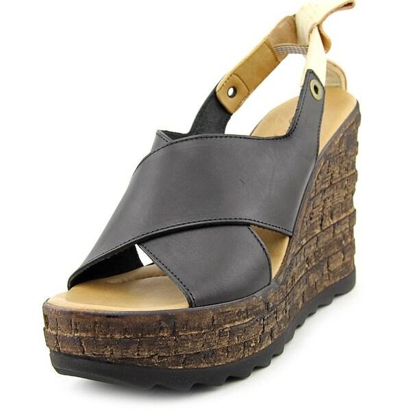 Matisse Ridge Open Toe Leather Wedge Sandal