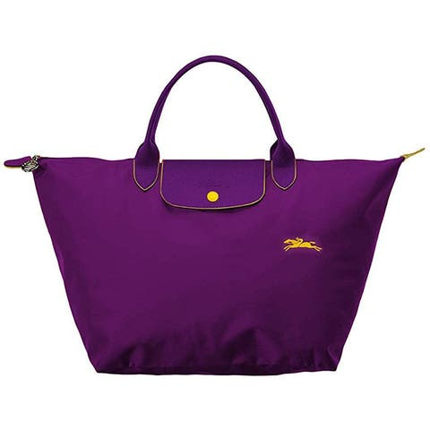 LongChamp Womens Le Pliage Club Top Handle Handbag Medium Violet Purple
