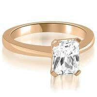 1.00 cttw. 14K Rose Gold Solitaire Emerald Cut Diamond Engagement Ring