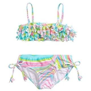Kate Mack Baby Girls Multi Color Petal Adorned 2 Pc Bandeau Swimsuit