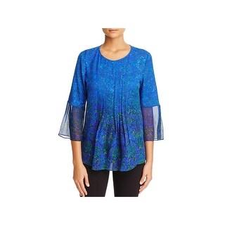 Elie Tahari Womens Orion Blouse Silk Printed