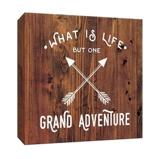 """PTM Images 9-147696  PTM Canvas Collection 12"""" x 12"""" - """"Grand Adventure"""" Giclee Sayings & Quotes Art Print on Canvas"""