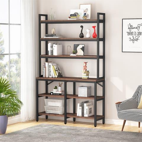 "47"" Bookcase, Etagere Bookshelf, 4-Tier Vintage Display Storage Rack, Standing Shelf"