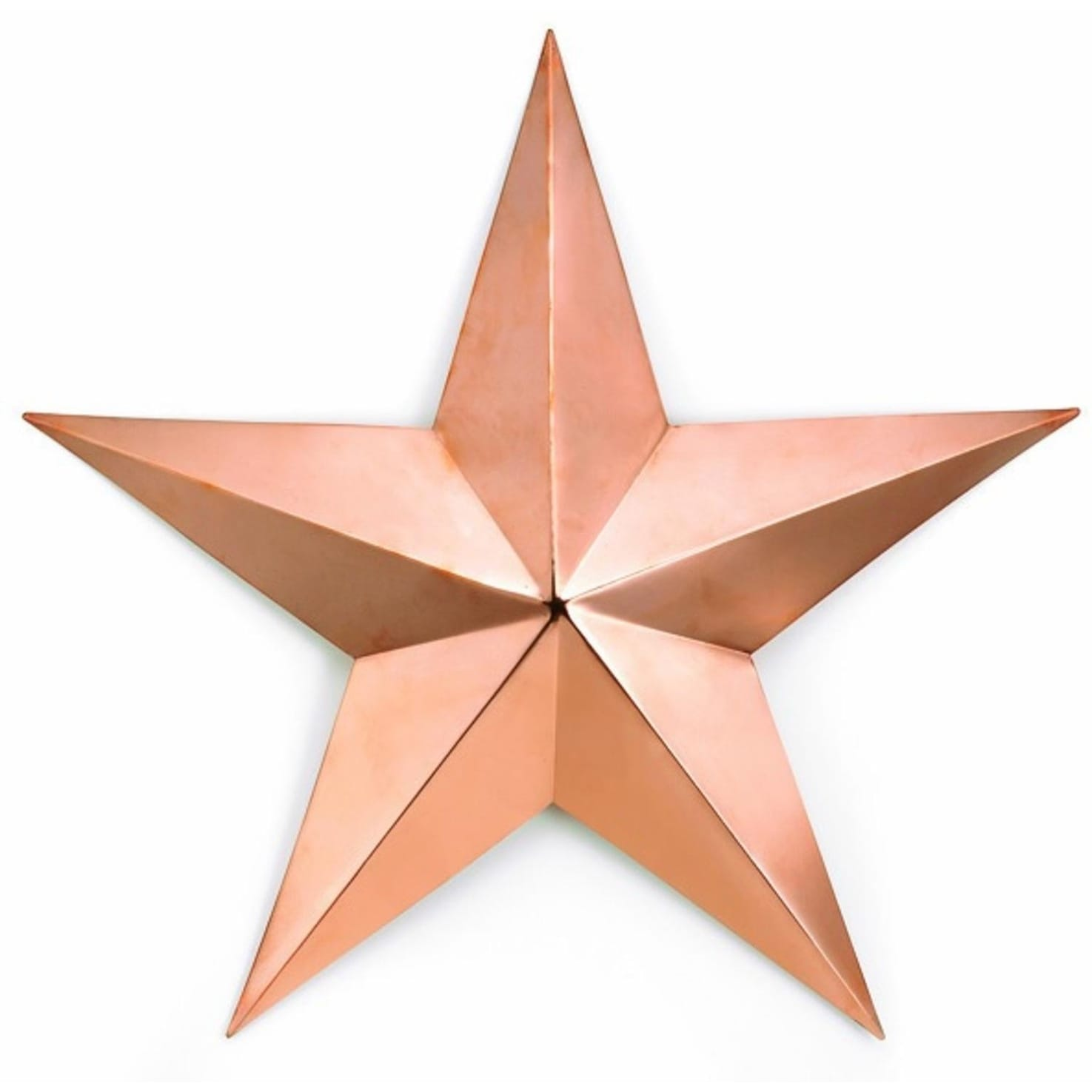 Polished Copper Star Outdoor Patio