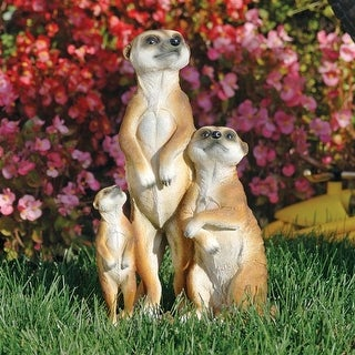 Design Toscano The Meerkat Family Sculpture