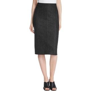 DKNY Womens Pencil Skirt Striped Hidden Back Zipper