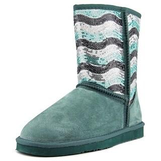 Lamo Stripy Women Round Toe Synthetic Green Winter Boot
