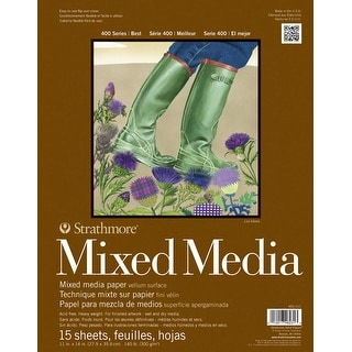 Strathmore 400 Series Mixed Media Pad, 11 x 14 in, 15 Sheets