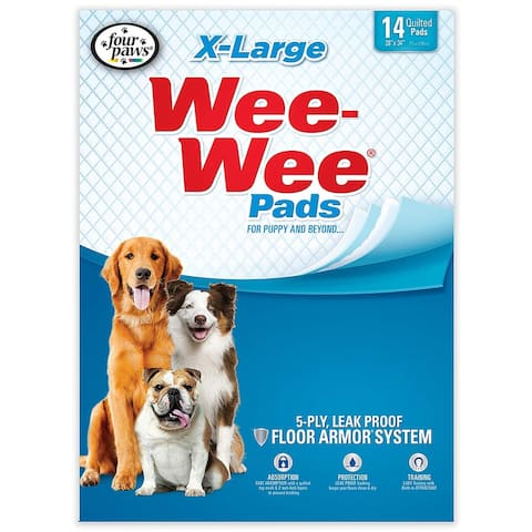 Four Paws Wee-Wee Pads Extra Large - white
