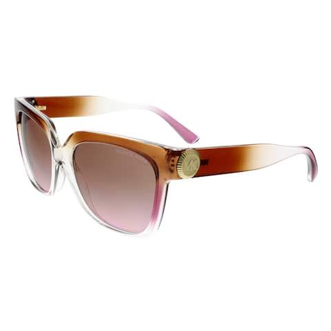 bfc9fdb9475c Michael Kors MK2054 328614 ENA Brown/Pink Crystal Gradient Square Sunglasses  - 55-16
