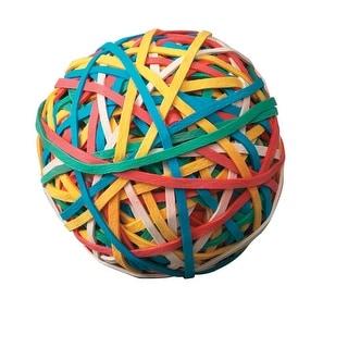 School Smart Economy Rubber Band Ball, Multiple Color