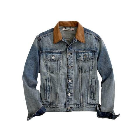 Tin Haul Western Jacket Mens Denim Button Blue