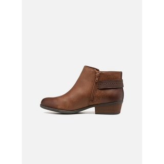 Link to Clarks Womens Addiy Kara Leather Almond Toe Ankle Fashion Boots Similar Items in Women's Shoes