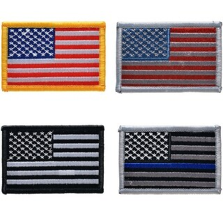 Image Tactical American USA Flag Embroidered Patch Hook Loop the United States of America Military Uniform Emblem