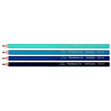 General's Non-Toxic Smooth Artists Graphite Drawing Pencil, 5B Tip, Black, Pack of 12