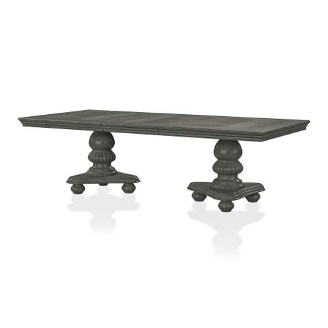 Furniture of America Tima Grey 103-inch Expandable Dining Table