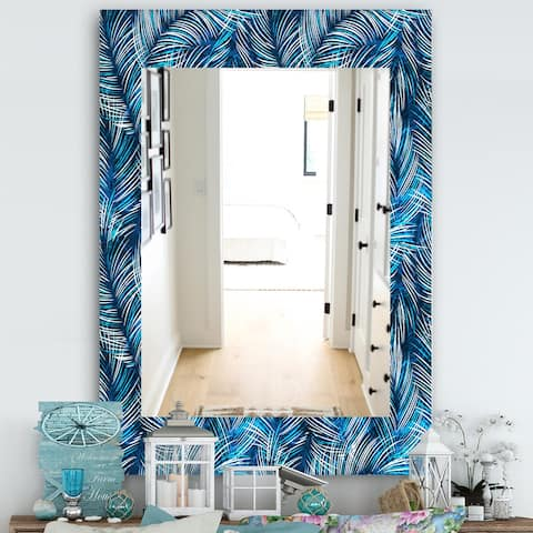 Designart 'Tropical Palm Leaves' Bohemian and Eclectic Mirror - Vanity Mirror
