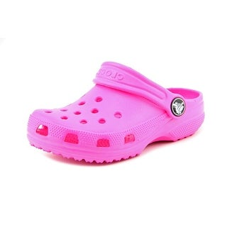 Crocs Classic Kids Toddler Round Toe Synthetic Pink Clogs