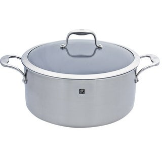 ZWILLING J.A. Henckels SOL Thermolon 8-Qt Dutch Oven - Ceramic Non-Stick - stainless steel/grey interior