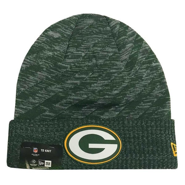 e18dc7950546cb Shop New Era 2018 NFL Green Bay Packers Touchdown Stocking Knit Hat Winter  Beanie - Free Shipping On Orders Over $45 - Overstock - 23042822