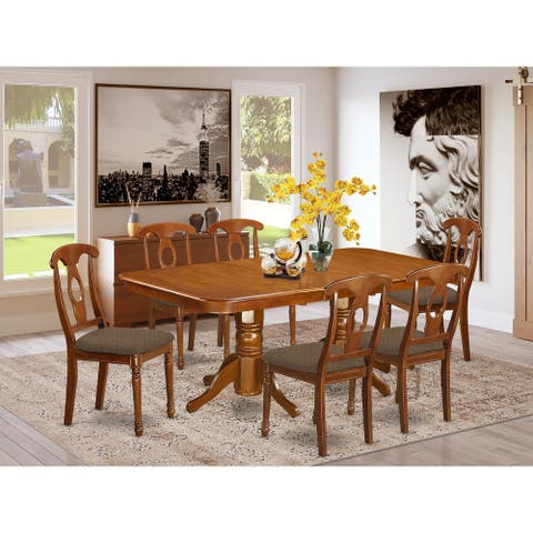 7 Pc Dining set - rectangular Table and 6 Chairs (Chairs Option)