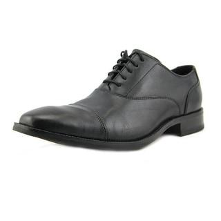 Cole Haan Williams Cpt. II Men Cap Toe Leather Black Oxford