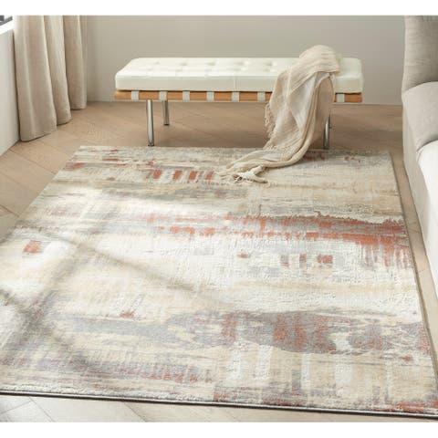 Calvin Klein Enchanting Contemporary Abstract Area Rug