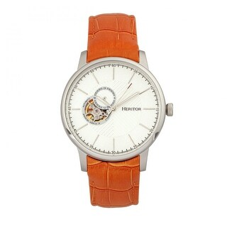 Heritor Landon Men's Automatic Watch, Genuine Leather Band, Sapphire-Coated Crystal, Luminous Hands