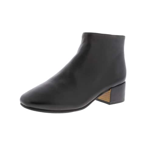 Gentle Souls by Kenneth Cole Womens Ella Ankle Boots Leather Square Toe