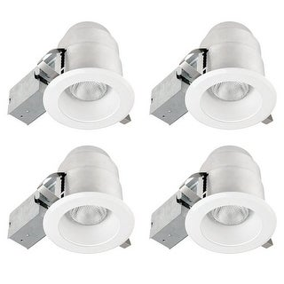 Globe Electric 91014 1 Light Recessed Lighting Kit (4 Pack) Includes Trim, Housing / Can, Patented Clip System and Electrical -