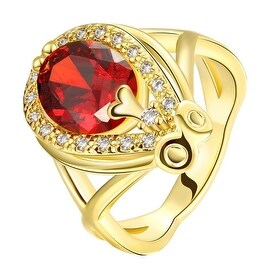 Accent Solitaire Gold Anniversary Ring
