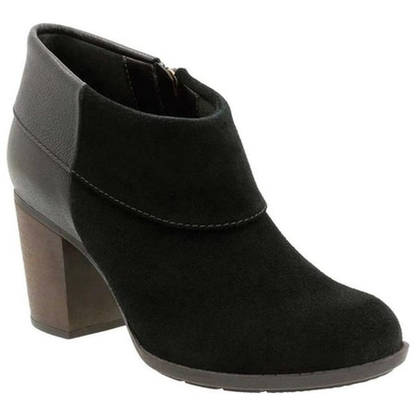 dd86c1e98aa Clarks Women  x27 s Enfield Canal Ankle Boot Black Cow Suede Cow Leather