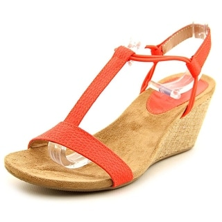 Style & Co Mulan Women Open Toe Synthetic Pink Wedge Sandal