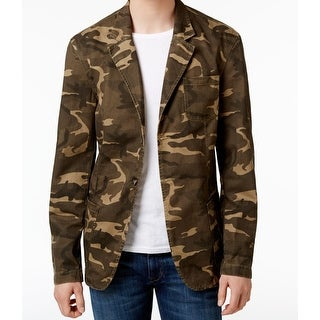 Weatherproof NEW Brown Mens Size Medium M Camo Two Button Jacket