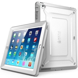 iPad 4 Case, SUPCASE,Apple iPad Case,Unicorn Beetle Pro Series, Full-body Rugged Hybrid Protective Case Cover-White/Gray