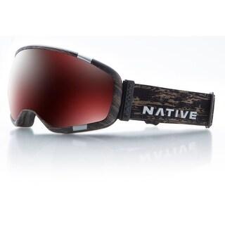 Native Eyewear 2017 Tank7 Ski Goggle - Jackplane Frame/Silver Mirror Lens - 409 637 003