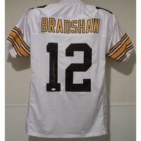 Terry Bradshaw Autographed Pittsburgh Steelers White Size XL Jersey