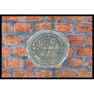 Carolines Treasures 8829JMAT 24 x 36 In.   Orleans Watermeter on Bricks Indoor or Outdoor Mat
