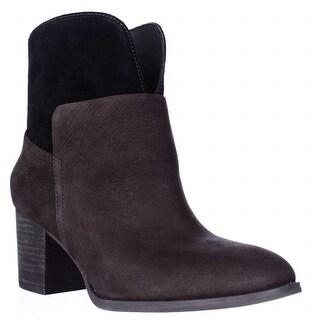Nine West Dale Pull On Ankle Boots - Dark Brown/Dark Brown
