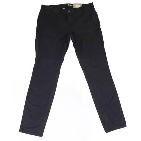 Carhartt Womens Jeans Deep Black Size 12 Stretch Slim Fit Crawford
