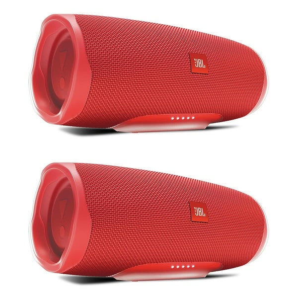 JBL Charge 4 Speakers (Set of 2) : Bluetooth, Portable, Wireless, and Waterproof