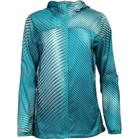 ASICS Packable Jacket Womens Athletic Jacket Lightweight - Blue