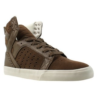 Supra Womens Skytop Brown Fashion Shoes Size 8.5
