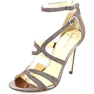 Ivanka Trump Hotis 2 Women Open Toe Canvas Bronze Sandals