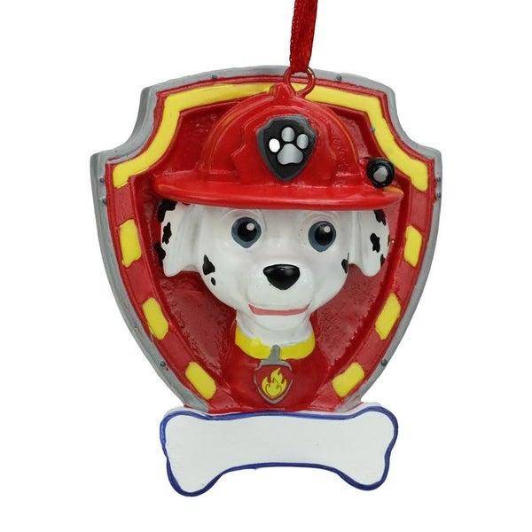 "2.75"" Paw Patrol Marshall Character Christmas Ornament for Personalization"