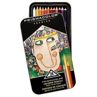 Prismacolor Premier Soft Core Colored Pencils, Thick, Assorted Colors, Set of 24