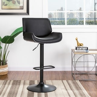 Link to Glitzhome Mid-century Modern Adjustable Height Swivel Bar Stool Similar Items in Outdoor Sofas, Chairs & Sectionals