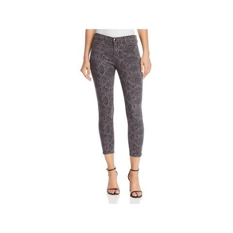 J Brand Womens Cropped Pants Snake Print Skinny - Boa Tuscan Storm - 29