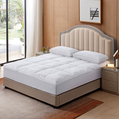 Triple Chamber Down and Feather Mattress Topper - White