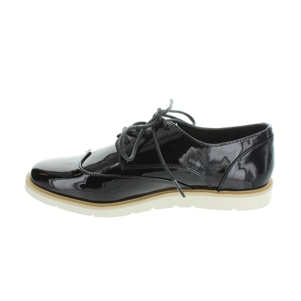 Restricted Womens elsie Leather Closed Toe Oxfords - 6.5